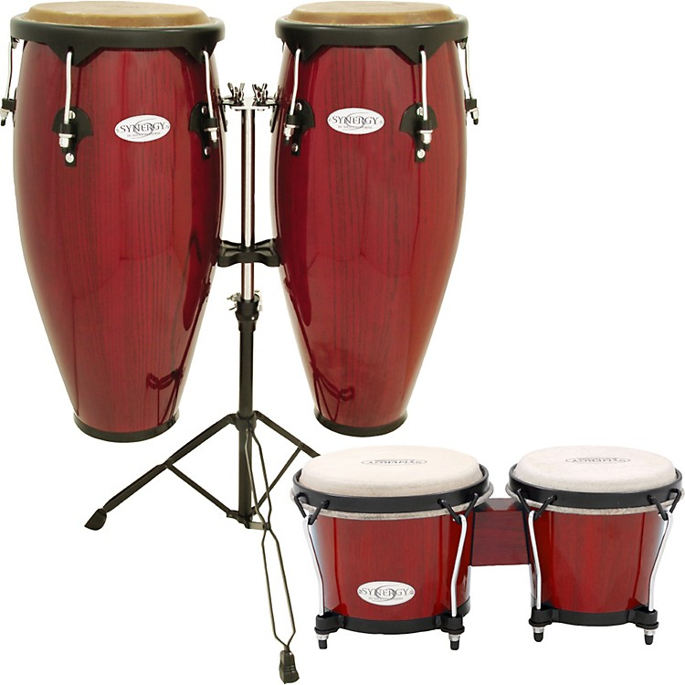 Congas And Bongos : toca synergy conga set with stand and bongos red musician 39 s friend ~ Russianpoet.info Haus und Dekorationen