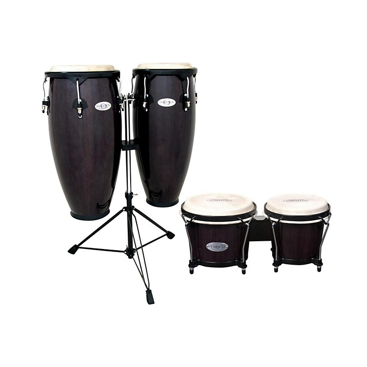 TocaSynergy Conga Set with Stand and BongosTransparent Black