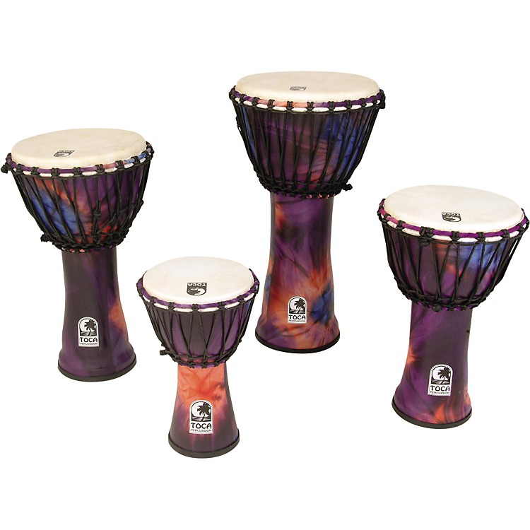 Toca Synergy Freestyle Rope Tuned Djembe 12 In Purple