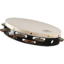 Grover Pro Synthetic Head Tambourine 10 in. Double Row Silver/Bronze Combo Jingles