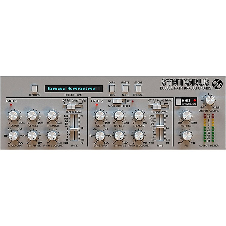 D16 GroupSyntorus Double Path Analog Chorus (VST/AU) Software DownloadSoftware Download
