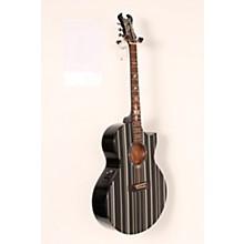 Schecter Guitar Research Synyster Gates 3700 Acoustic-Electric Guitar Level 2 Gloss Black with Silver Pinstripes 190839103796