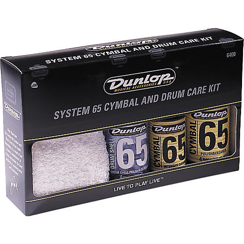 Dunlop System 65 Cymbal and Drum Care Kit-thumbnail