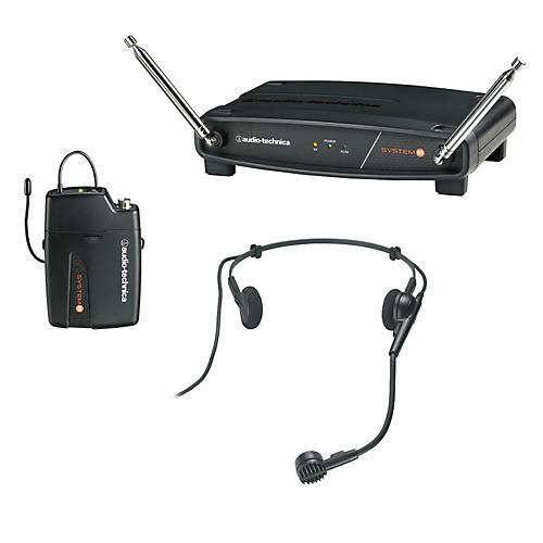 Audio-Technica System 8 Wireless System includes: PRO 8HEcW headworn microphone 170.245 MHz