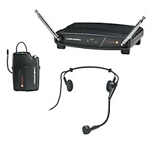 Audio-Technica System 8 Wireless System includes: PRO 8HEcW headworn microphone Level 1 169.505 MHz