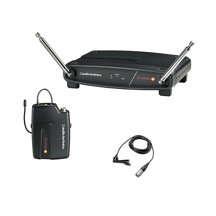Audio-Technica System 8 Wireless System includes: UniPak Transmitter w/ Lavalier Microphone 170.245 MHz