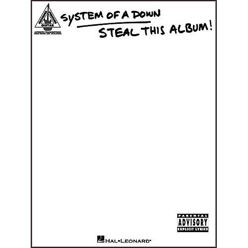 Hal Leonard System of a Down Steal This Album Guitar Tab Songbook