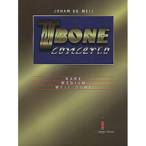 Amstel Music T-Bone Concerto (Solo with Piano Reduction) Concert Band Level 5-6 Composed by Johan de Meij-thumbnail