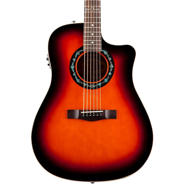 Fender T-Bucket 100-CE Acoustic-Electric Guitar 3 Color Burst