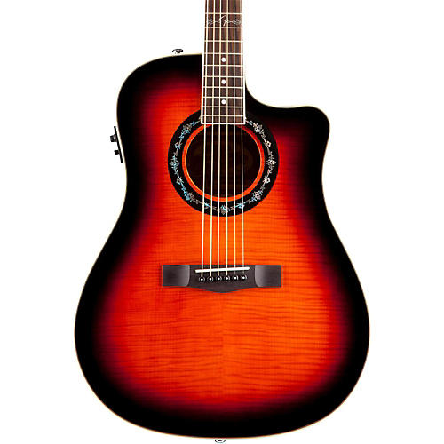 Fender T-Bucket 300 CE Cutaway Acoustic-Electric Dreadnought Guitar Sunburst
