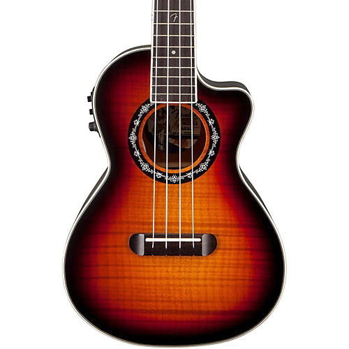 Fender T-Bucket Acoustic-Electric Ukulele 3-Color Sunburst
