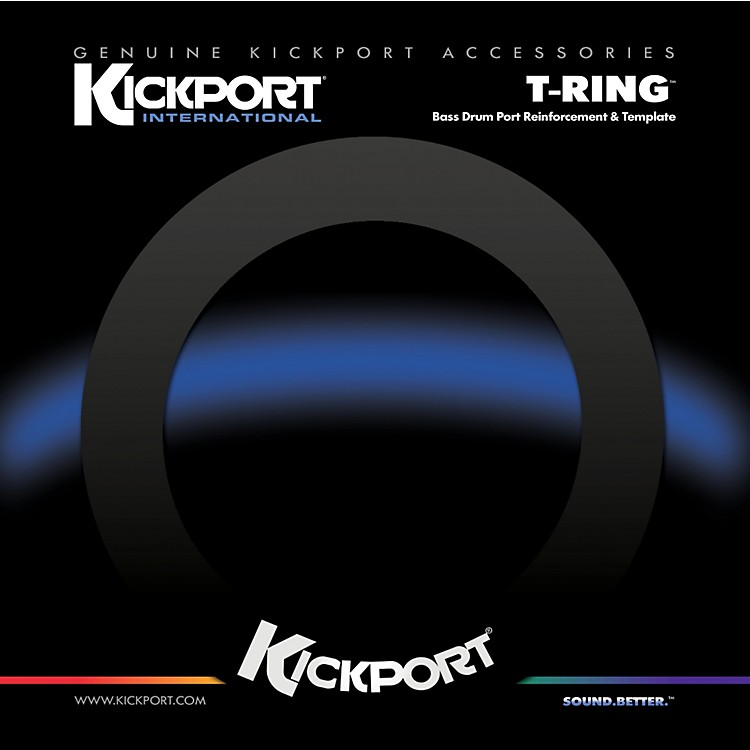 Kickport T-Ring Bass Drum Template/Reinforcement Ring Black