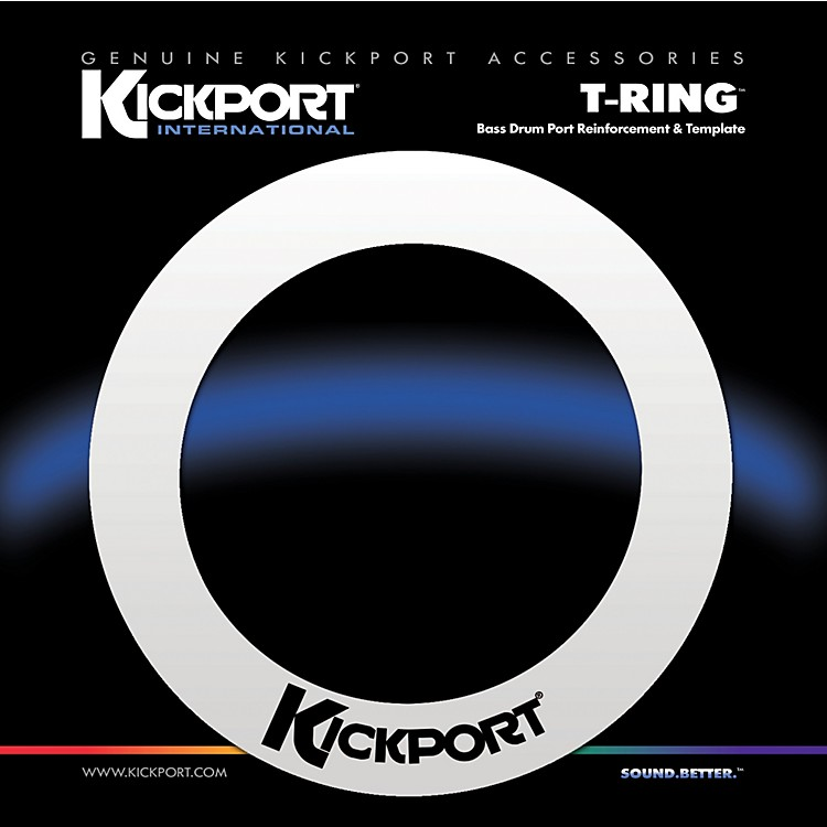 Kickport T-Ring Bass Drum Template/Reinforcement Ring White