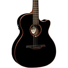 Lag Guitars T100ACE Auditorium Cutaway Acoustic-Electric Guitar Black