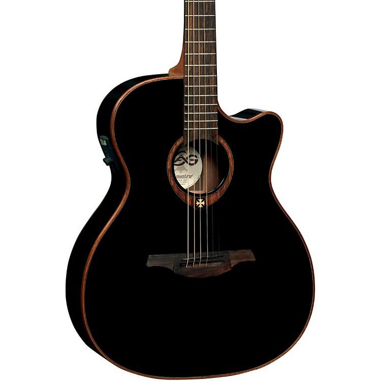Lag GuitarsT100ACE Auditorium Cutaway Acoustic-Electric GuitarBlack