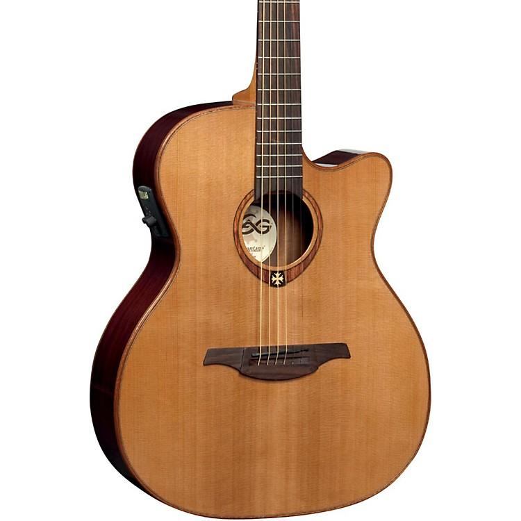 Lag GuitarsT100ACE Auditorium Cutaway Acoustic-Electric GuitarNatural