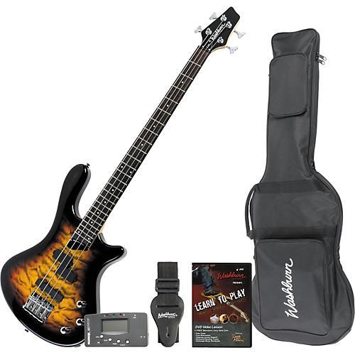 Washburn T14QT Electric Bass/Accessory Pack-thumbnail