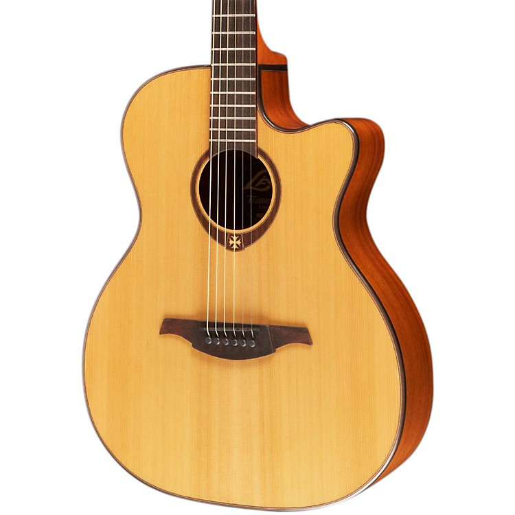 Lag Guitars T200ACE Auditorium Cutaway Acoustic-Electric Guitar Natural