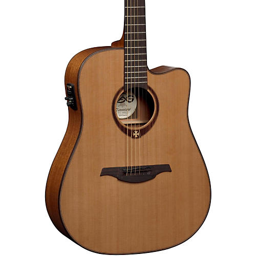 Lag Guitars T200DCE Dreadnought Cutaway Acoustic-Electric Guitar Natural