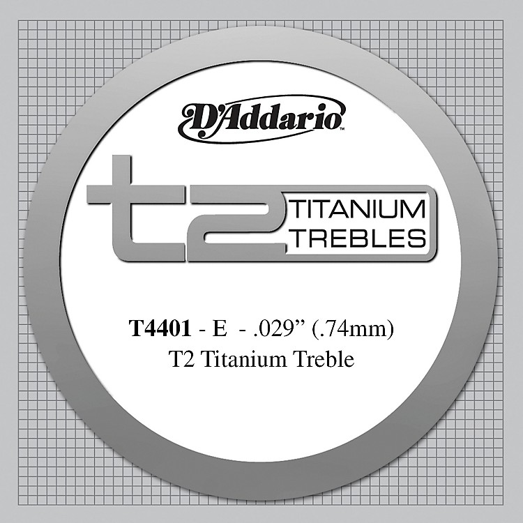 D'Addario T4401 T2 Titanium X-Hard Single Classical Guitar String