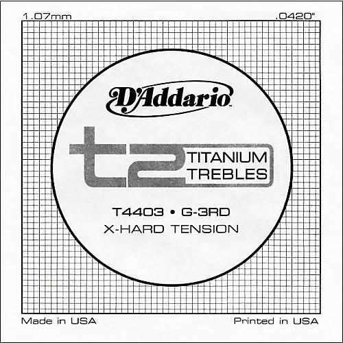 D'Addario T4403 T2 Titanium X-Hard Single String