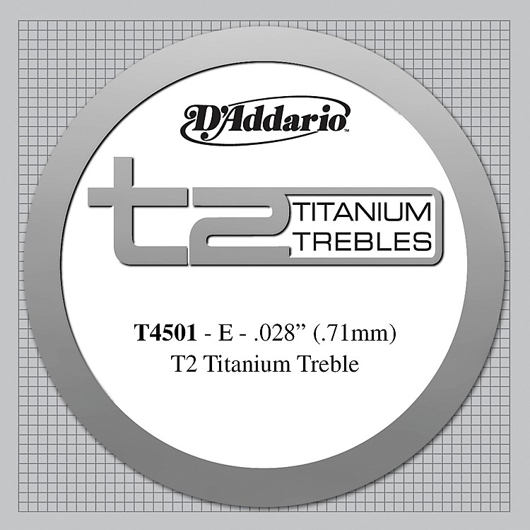 D'Addario T4501 T2 Titanium Normal Single String