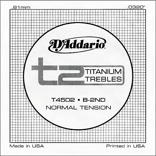 D'Addario T4502 T2 Titanium Normal Single String
