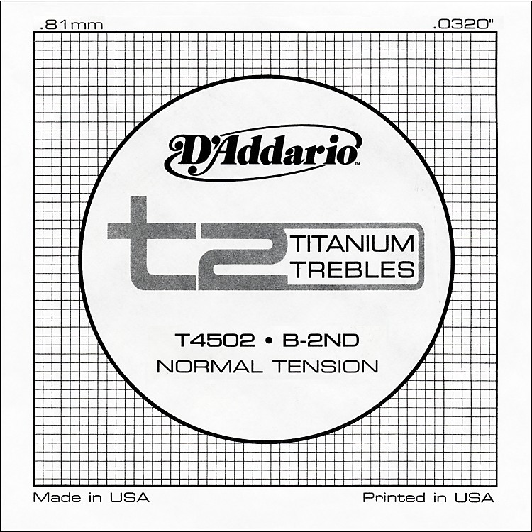 D'AddarioT4502 T2 Titanium Normal Single String