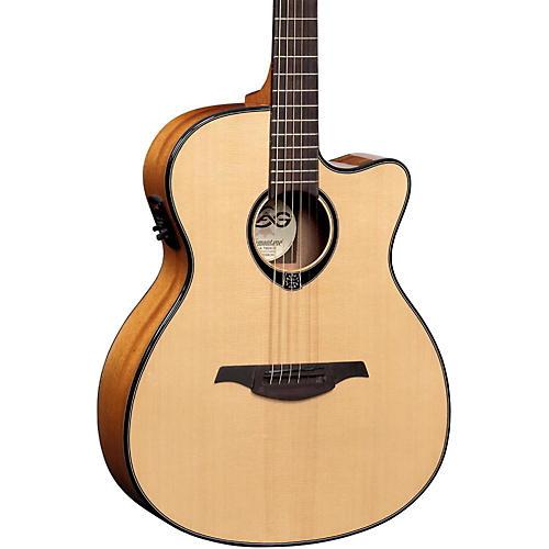 Lag Guitars T66ACE Auditorium Cutaway Acoustic-Electric Guitar Natural