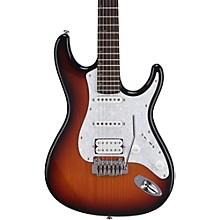 Mitchell TD400 Double Cutaway Electric Guitar 3-Color Sunburst White Pearloid Pickguard