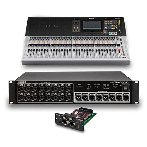 Yamaha TF5 32-Ch Digital Mixer with Tio1608-D Dante Stage Box and Expansion Card