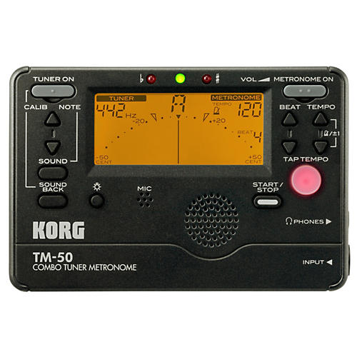 Korg TM-50 Combo Tuner/Metronome Black