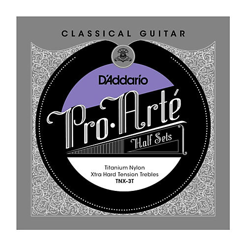 D'Addario TNX-3T Pro-Arte Extra Hard Tension Classical Guitar Strings Half Set-thumbnail