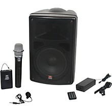 Galaxy Audio TQ8-24HVN TQ8 Traveler Quest 8 Battery Powered PA With Handheld Mic, Lav Mic and Two Receivers