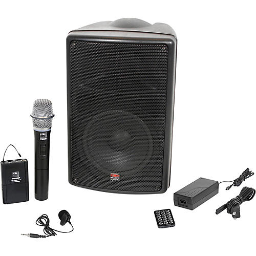 Galaxy Audio TQ8-24VHN Traveler Quest 8 TQ8 Battery Powered PA Speaker With 2 Receivers, One Lavalier and One Handheld Microphone-thumbnail