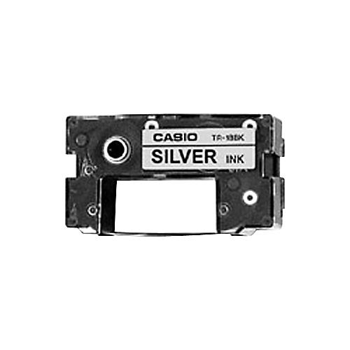 Casio TR-18SR Silver Ink Ribbon Cassette for CW-50 and CW-75 Disk Title Printers