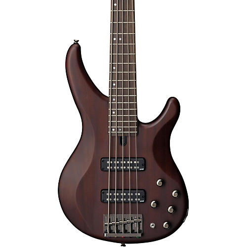 Yamaha TRBX505 5-String Premium Electric Bass Transparent Brown Rosewood Fretboard