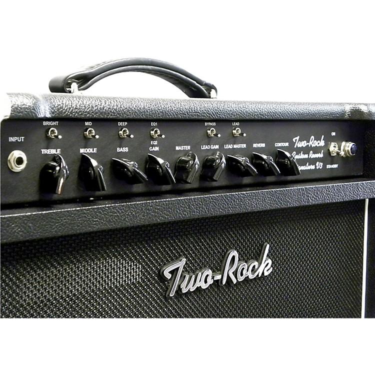 Two RockTRCU50CMTR Custom Reverb v3 TR 50W Tube Guitar Combo AmpBlack