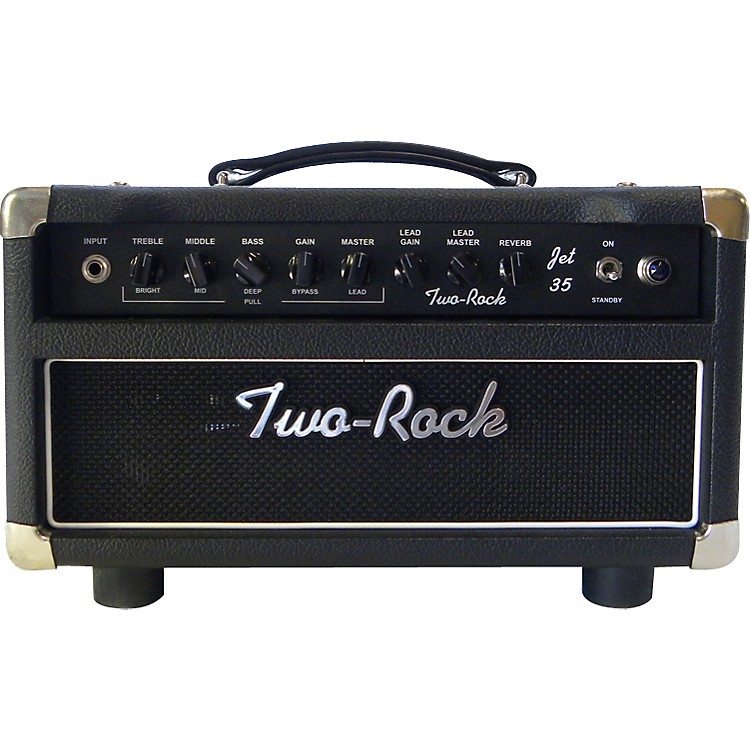Two RockTRJT35HD Jet 35W Tube Guitar Amp HeadBlack