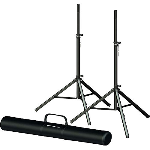 Ultimate Support TS-70B Speaker Stand Pair and Bag Bundle