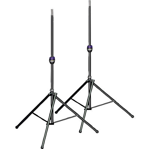 Ultimate Support TS-99BL Tall Leveling-Leg Speaker Stand Pair Black