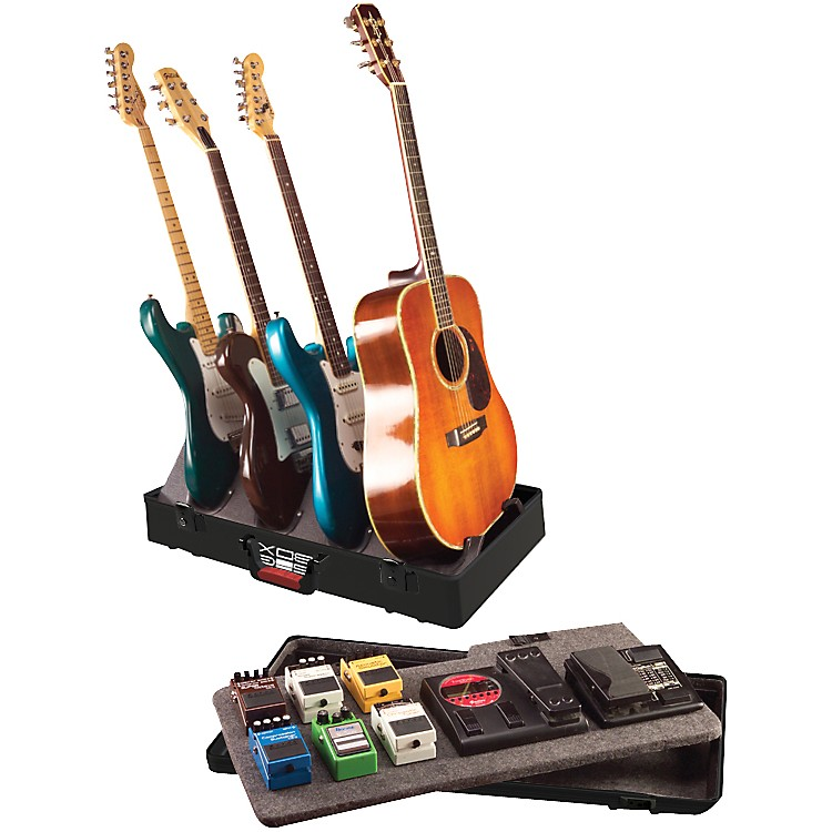 Gator TSA GIG-BOX Guitar Stand/Pedalboard Holds 3 electric guitars and 1 acoustic guitar