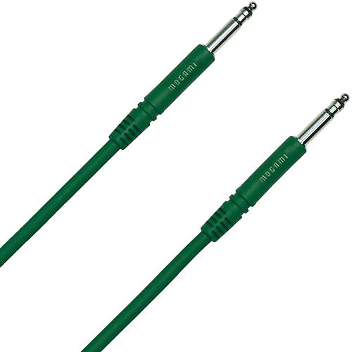 Mogami TT-TT Patch Cable Green 12 in.