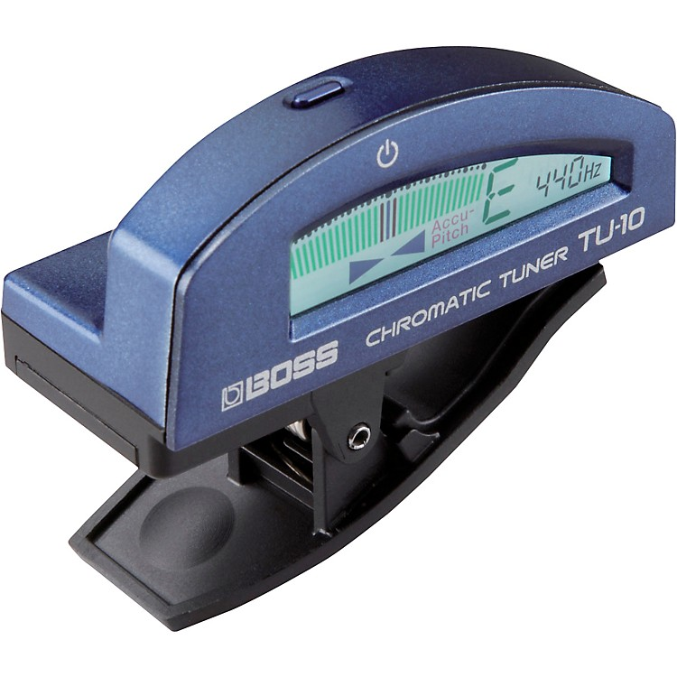 Boss TU-10 Clip-On Chromatic Tuner Blue