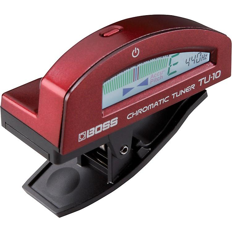 BossTU-10 Clip-On Chromatic TunerRed