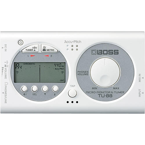 Boss TU-88 Micro Monitor & Tuner for Guitar & Bass