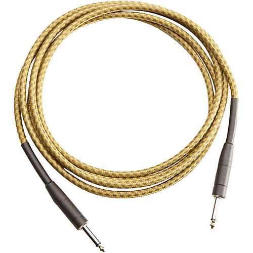 Musician's Gear TWEED 1 4 STRAIGHT INSTRUMENT CABLE RED 20FT Gold 10 ft.