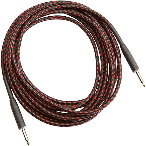 Musician's Gear TWEED 1 4 STRAIGHT INSTRUMENT CABLE RED 20FT Red 20 ft.