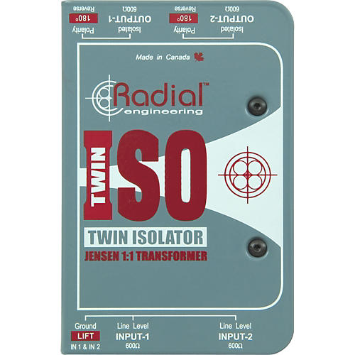 Radial Engineering TWIN ISO Passive Line-Level Isolator