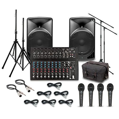 Alto TX15USB with Harbinger L1402FX Mixer PA System-thumbnail
